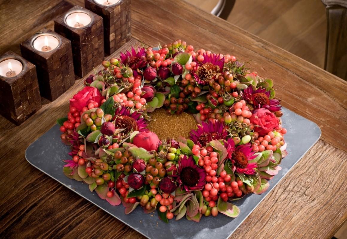 Couronne Dautomne Chaleureuse OASIS Floral Products