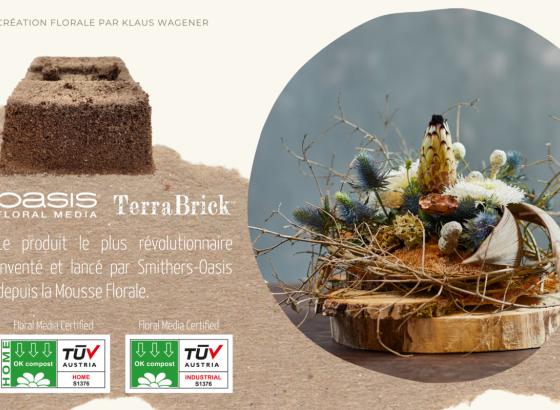 Smithers-Oasis lance OASIS® TerraBrick™ Floral Media