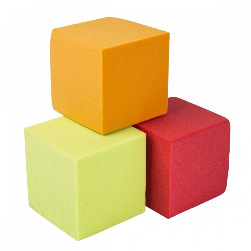 oasis rainbow foam cubes 10 cm oasis floral products. Black Bedroom Furniture Sets. Home Design Ideas